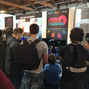 Attendees playing Aperion Cyberstorm at EGX Rezzed